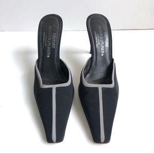 Donald J. Pliner Reflective Slide Heels Size 8.5